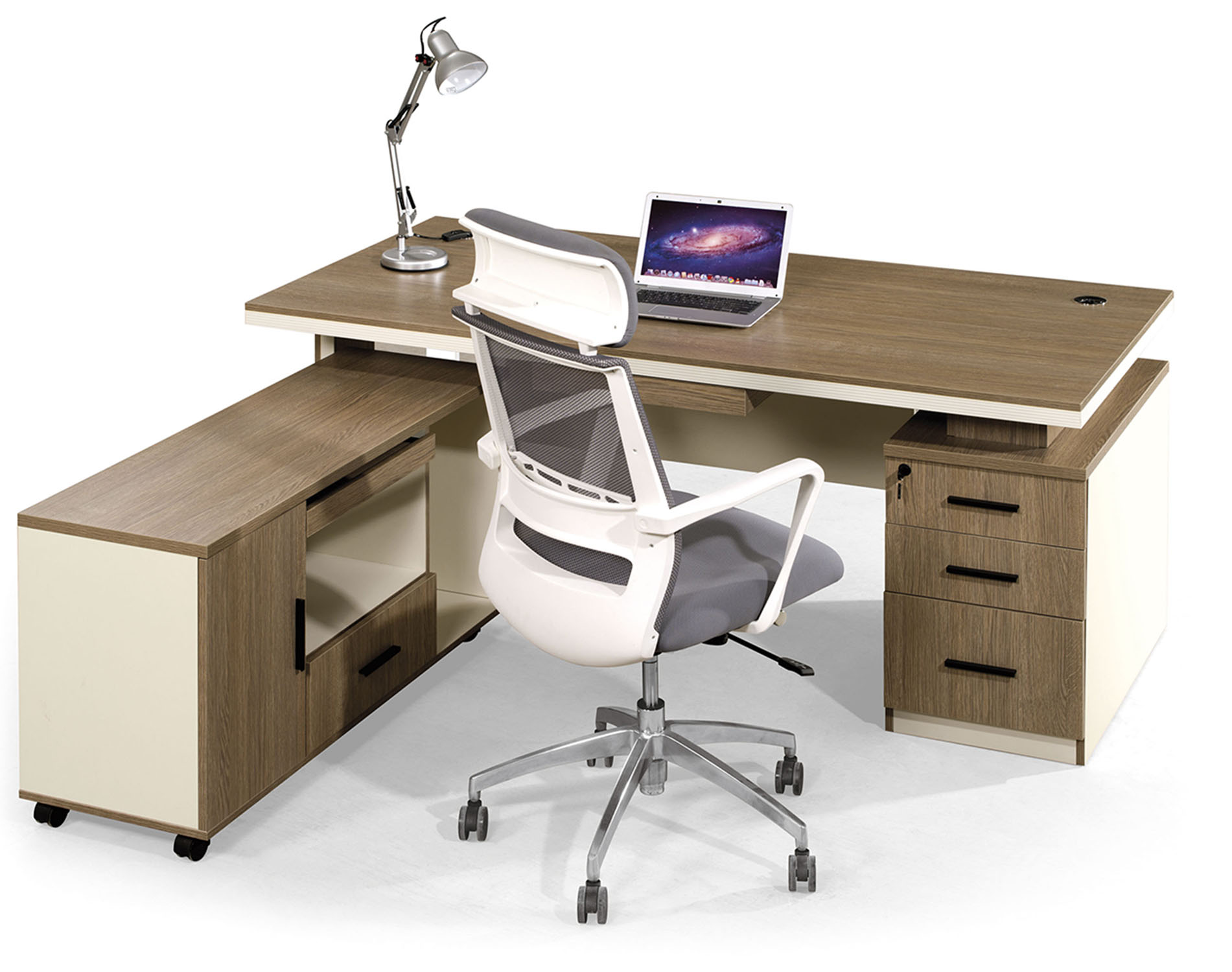 Zm 6422 Modern Panel Executive Desk Malazan Furniture